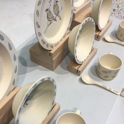Service complet de vaisselle en bambou Camcam