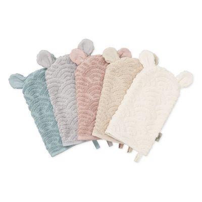 Gants de toilette bébé en coton bio CamCam