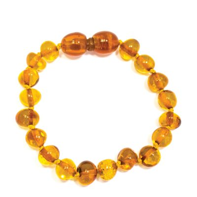 Bracelet d'ambre baroque pour bébé avec Fermoir Sécurité