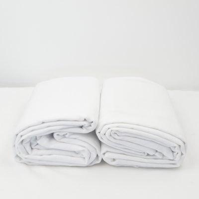 Lot de 2 Maxi langes 100% coton bio unis