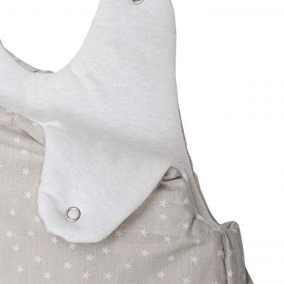Gigoteuse Hiver en coton bio à motifs étoiles avec pochette assortie