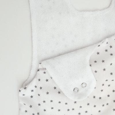Gigoteuse Eté en coton bio motifs étoiles avec pochette assortie 0-6 mois