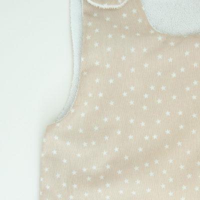 Gigoteuse Été en coton bio motifs étoiles avec pochette assortie