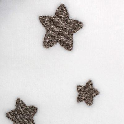 Pyjama bébé en coton bio blanc à motifs étoiles