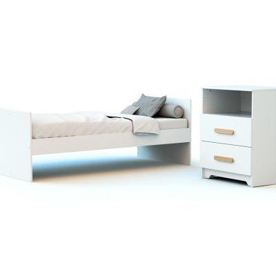 Combiné lit et table à langer évolutifs tiroirs