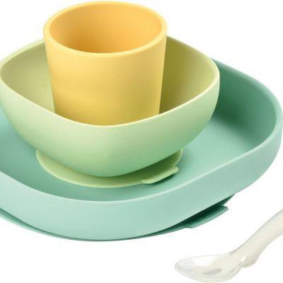Set repas en silicone Beaba