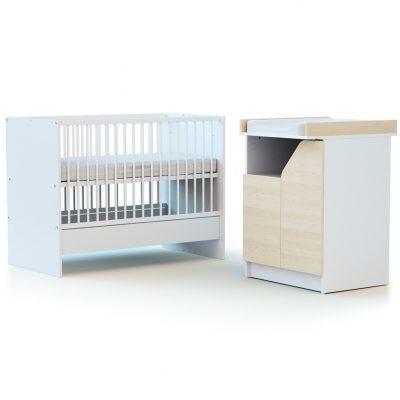 Combiné lit et table à langer évolutifs Design