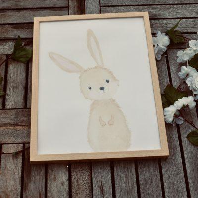 Décoration animaux de la forêt, cadre, affiche
