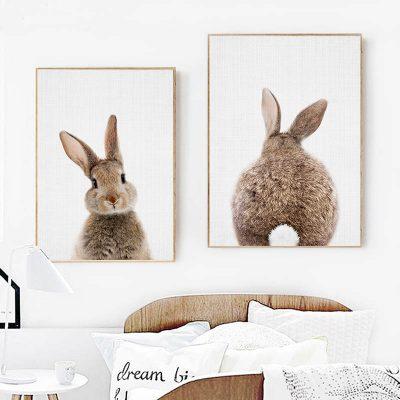 Affiches lapins avec ou sans cadre