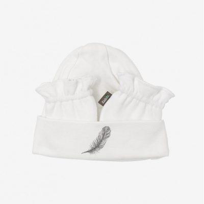Set Bonnet et gants naissance en coton Bio kadolis