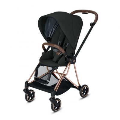 Ensemble Poussette Cybex Mios Black Deep/Rose Gold