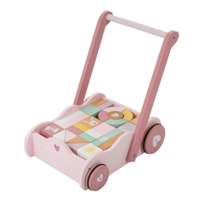 Chariot et cubes Little Dutch
