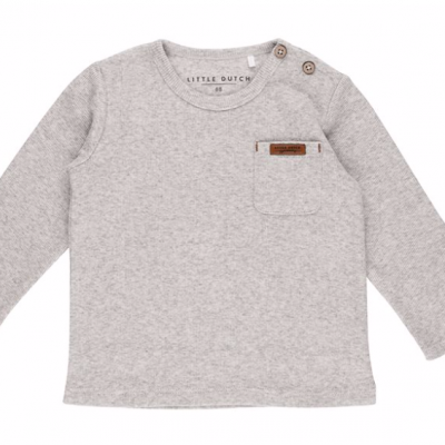 Haut manches longues Little Dutch grey melange