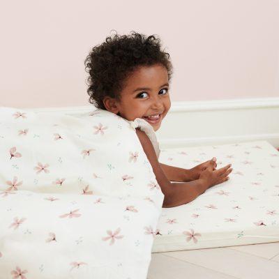 Housse de couette bébé + taie coton bio Camcam